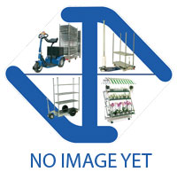 Electric platform trolley for warehouses