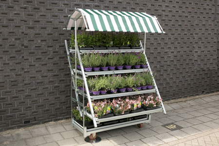 Hortidisplay with awning